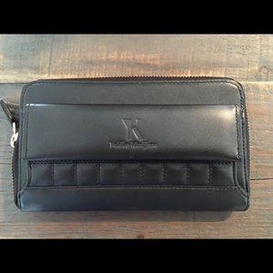 EUC KIMIJIMA sheepskin leather clutch / wallet